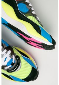 Wielokolorowe sneakersy Puma z cholewką, z okrągłym noskiem