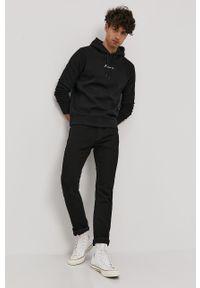 Czarna bluza nierozpinana Premium by Jack&Jones casualowa, z kapturem