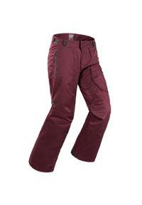 DREAMSCAPE - Spodnie narciarskie / snowboardowe męskie Dreamscape 500. Kolor: czerwony, wielokolorowy, szary. Materiał: materiał, puch. Sezon: zima. Sport: narciarstwo, snowboard