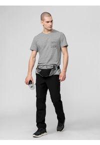 4f - Spodnie trekkingowe 2w1 męskie. Kolor: czarny. Materiał: tkanina, włókno, dzianina