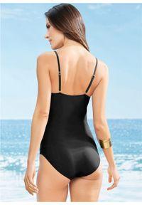 Czarny strój kąpielowy bonprix z wyjmowanymi miseczkami
