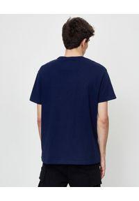 Ralph Lauren - RALPH LAUREN - Granatowy t-shirt z logo Regular Fit. Okazja: na co dzień. Typ kołnierza: polo. Kolor: niebieski. Materiał: bawełna. Wzór: haft. Styl: casual
