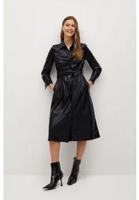 Czarna sukienka mango casualowa, midi, prosta