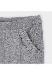 Mayoral Spodnie materiałowe 4544 Szary Slim Fit. Kolor: szary. Materiał: materiał