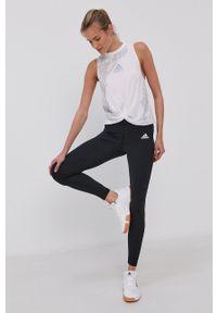 Adidas - adidas - Legginsy. Kolor: czarny. Materiał: dzianina, materiał
