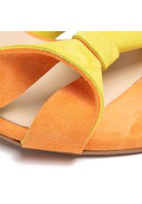 Pomarańczowe sandały Maccioni eleganckie