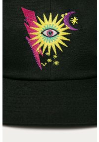 Czarna czapka z daszkiem Femi Stories z aplikacjami #4