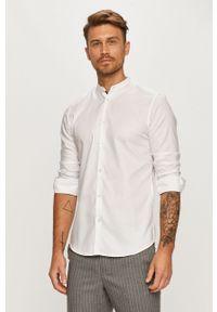 Biała koszula Selected casualowa, na co dzień, długa, ze stójką
