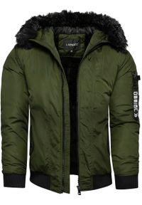 Brązowa kurtka zimowa Recea bez kaptura