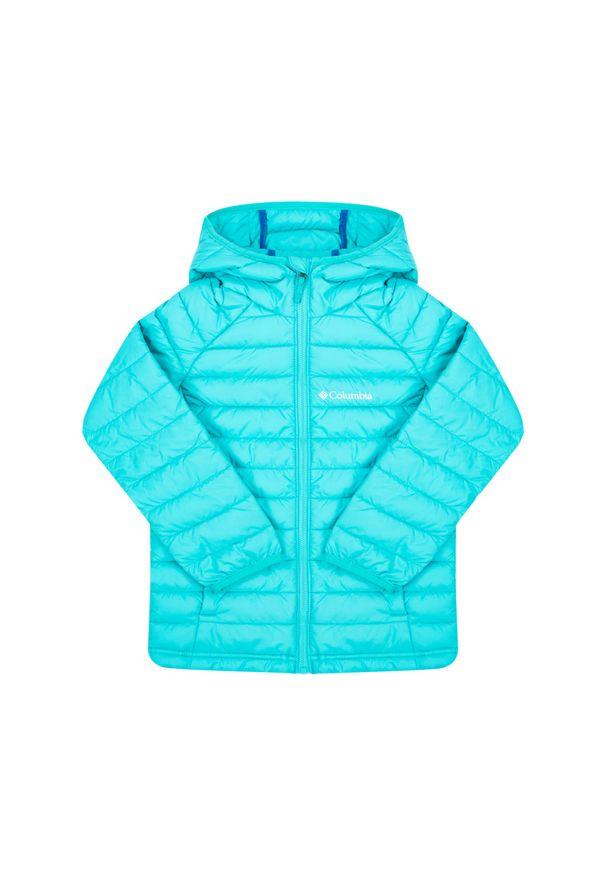 Niebieska kurtka puchowa columbia