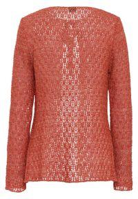 Czerwony sweter bonprix z kokardą