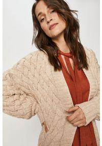 Kremowy sweter rozpinany Answear Lab na co dzień, z długim rękawem, wakacyjny