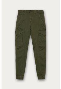 Oliwkowe spodnie Jack & Jones casualowe, na co dzień