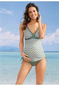 Zielony strój kąpielowy bonprix moda ciążowa, z odpinanymi ramiączkami