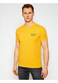 EA7 Emporio Armani T-Shirt 3KPT06 PJ03Z 1604 Żółty Regular Fit. Kolor: żółty