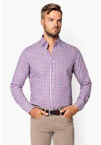 Lancerto - Koszula w Kratę Debora. Materiał: jeans, tkanina, bawełna. Wzór: kratka, kolorowy