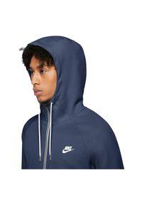 Bluza męska Nike Sportswear Modern CU4455. Typ kołnierza: kaptur. Materiał: materiał, bawełna, dzianina, żakard, poliester. Wzór: ze splotem, jodełka