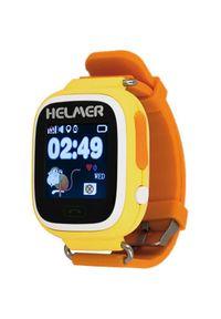 Helmer Chytré dotykové hodinky s GPS lokátorem LK 703 žluté + SIM karta GoMobil s kreditem 50 Kč. Rodzaj zegarka: cyfrowe