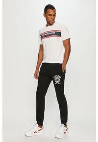 Czarne spodnie dresowe Jack & Jones z aplikacjami