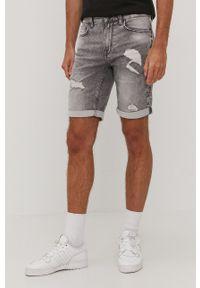 Only & Sons - Szorty jeansowe. Okazja: na co dzień. Kolor: szary. Materiał: jeans. Styl: casual