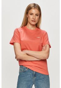 Różowa bluzka Fila na co dzień, gładkie, casualowa