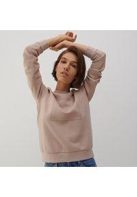 Reserved - Bluza z aplikacją - Kremowy. Kolor: kremowy. Wzór: aplikacja