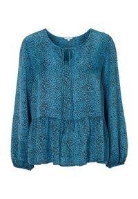 Truly mine Bluzka Odette niebieski w cętki female niebieski/ze wzorem S (34/36). Kolor: niebieski. Materiał: wiskoza