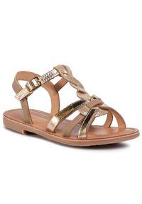 Złote sandały Les Tropeziennes na lato
