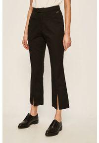 Czarne spodnie materiałowe Pepe Jeans na co dzień, casualowe