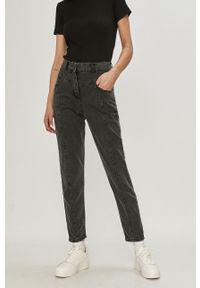 Szare proste jeansy Answear Lab wakacyjne, z podwyższonym stanem