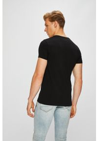 Czarny t-shirt TOMMY HILFIGER casualowy, na co dzień