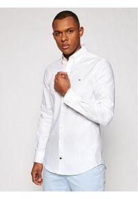 Tommy Hilfiger Tailored Koszula Oxford MW0MW16485 Biały Slim Fit. Kolor: biały