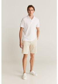 Biała koszulka polo Mango Man krótka, polo