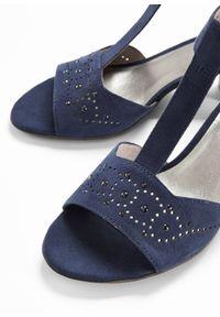 Niebieskie sandały bonprix z aplikacjami, klasyczne