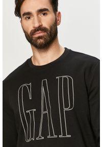 Czarna bluza nierozpinana GAP na co dzień, z nadrukiem, casualowa
