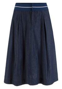 Spódnica dżinsowa z gumką w talii bonprix ciemnoniebieski. Kolor: niebieski