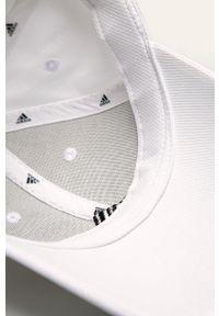 Biała czapka z daszkiem adidas Performance