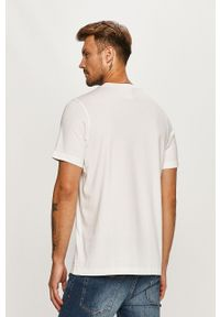 Biały t-shirt adidas Originals casualowy, z nadrukiem, na co dzień