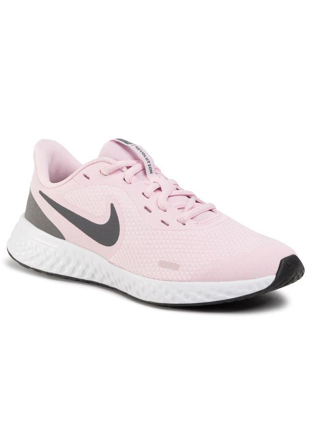 Różowe półbuty Nike z cholewką