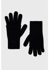 United Colors of Benetton - Rękawiczki wełniane. Kolor: czarny. Materiał: wełna. Wzór: gładki