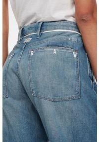Niebieskie jeansy G-Star RAW na co dzień, z podwyższonym stanem, casualowe