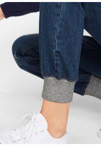 Dżinsy bawełniane BOYFRIEND z wygodnym paskiem bonprix dirty denim. Kolor: czarny