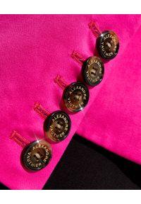 ALEXANDRE VAUTHIER - Różowa marynarka. Kolor: różowy, fioletowy, wielokolorowy. Długość rękawa: długi rękaw. Długość: długie
