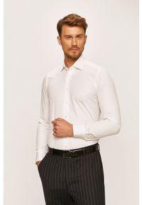 Emanuel Berg - Koszula. Typ kołnierza: kołnierzyk klasyczny. Kolor: biały. Materiał: tkanina. Styl: klasyczny