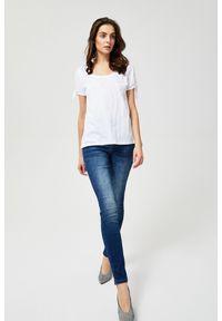 Niebieskie jeansy MOODO długie, z podwyższonym stanem