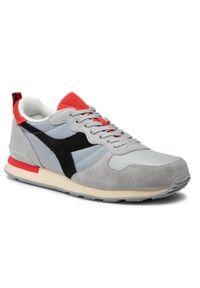 Diadora - Sneakersy DIADORA - Camaro Icona 501.177357-C9127 High Rise/Black/Fiery Red. Okazja: na co dzień. Kolor: szary. Materiał: skóra, materiał, zamsz. Szerokość cholewki: normalna. Styl: casual
