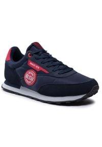 Big-Star - Sneakersy BIG STAR - HH174252 Navy. Okazja: na co dzień. Kolor: niebieski. Materiał: zamsz, skóra ekologiczna, materiał. Szerokość cholewki: normalna. Styl: casual, klasyczny, elegancki