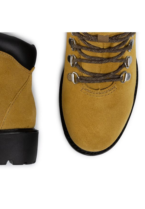 Żółte buty trekkingowe vagabond z cholewką