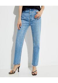 NANUSHKA - Jasnoniebieskie jeansy Miya. Okazja: na co dzień. Stan: podwyższony. Kolor: niebieski. Styl: vintage, casual