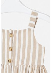 Beżowa sukienka Mayoral mini, plisowana